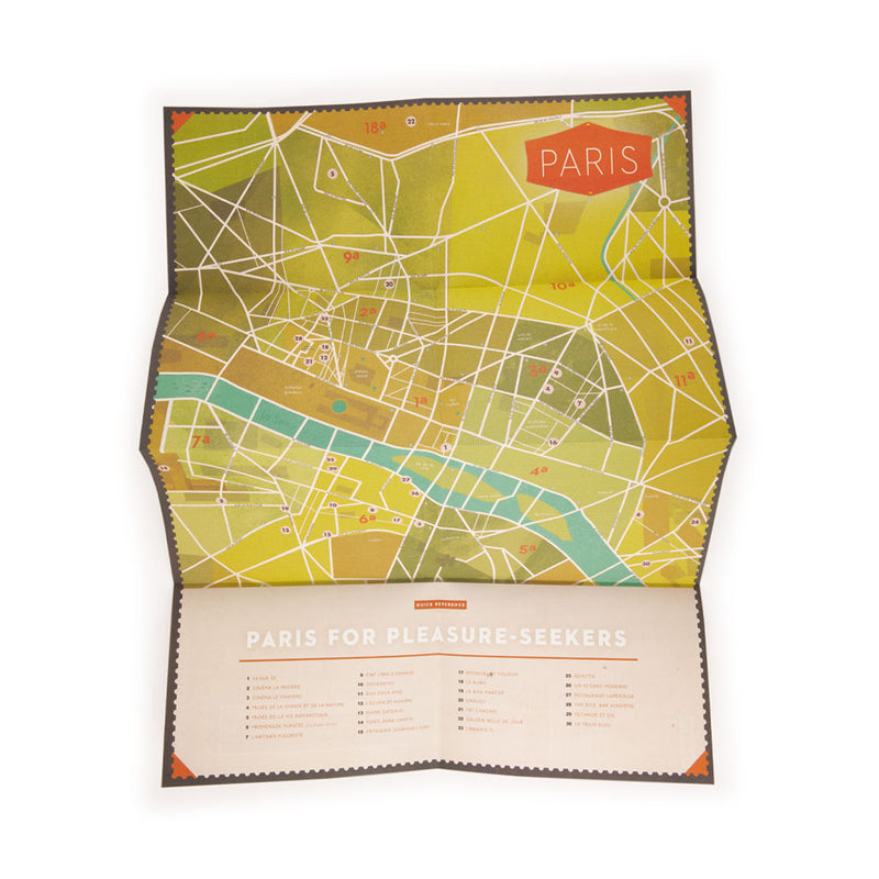 'Paris For Pleasure Seekers' Map