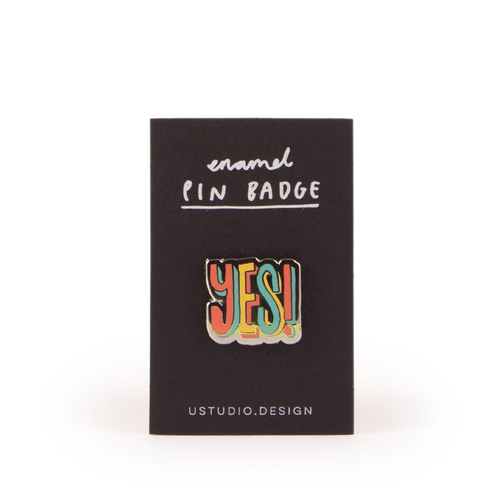 'Yes!' Enamel Pin