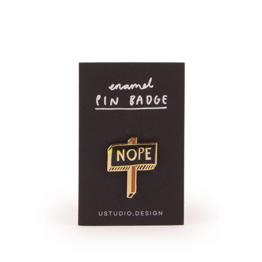 'Nope' Enamel Pin by USTUDIO