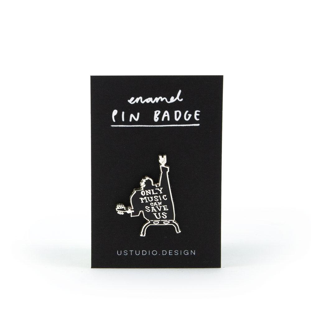 'Only Music' Enamel Pin