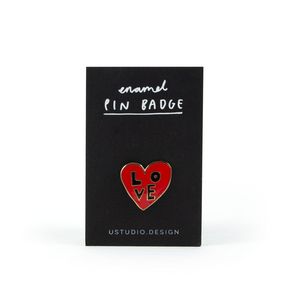 'Love Heart' Enamel Pin