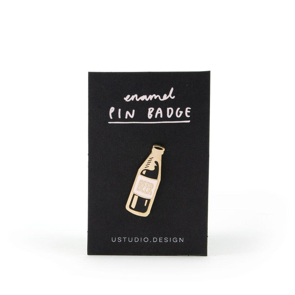 'Beer' Enamel Pin
