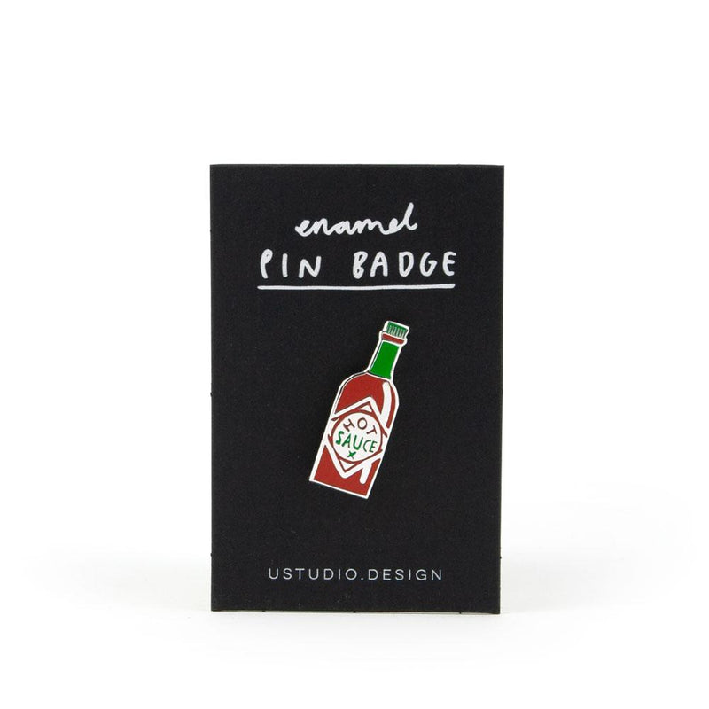'Hot Sauce' Enamel Pin