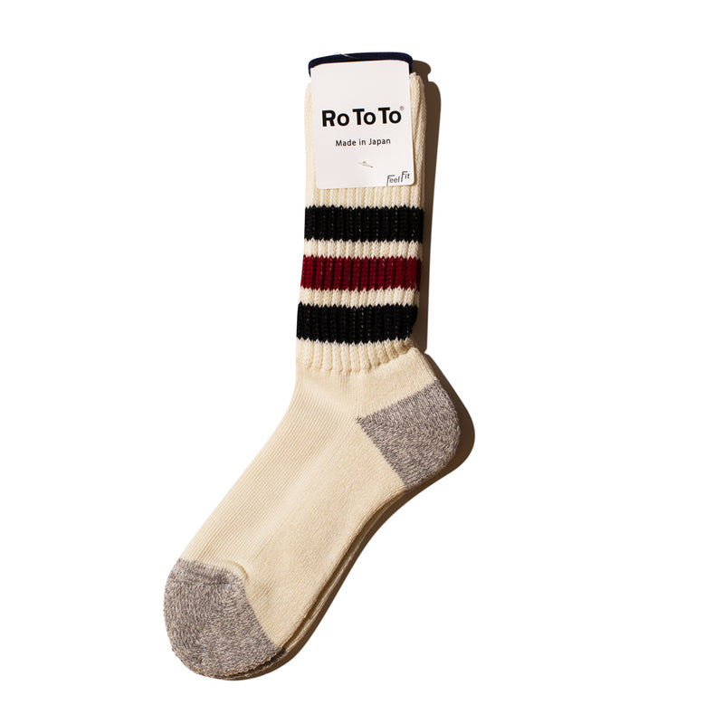'Coarse Ribbed Old School' Socks