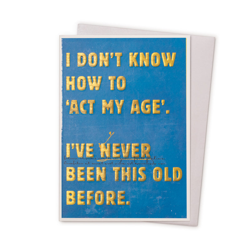 'Act My Age' Card