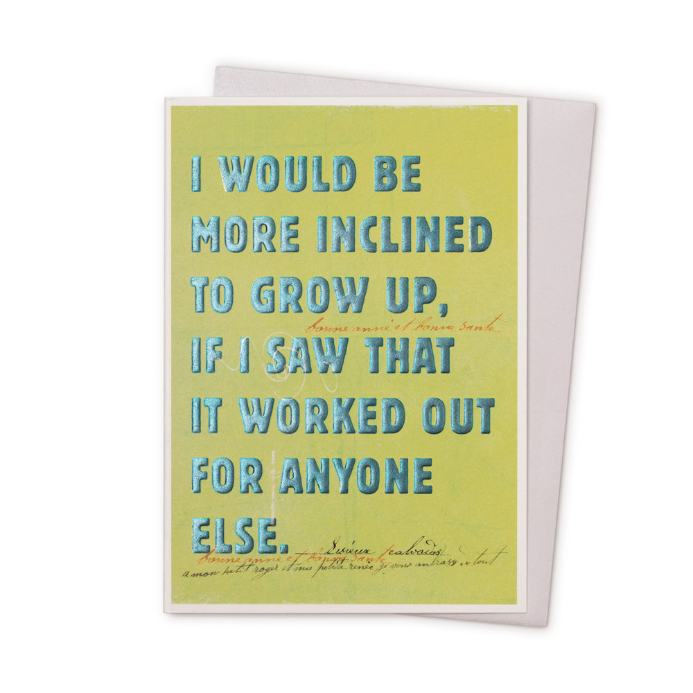 'Grow Up' Card