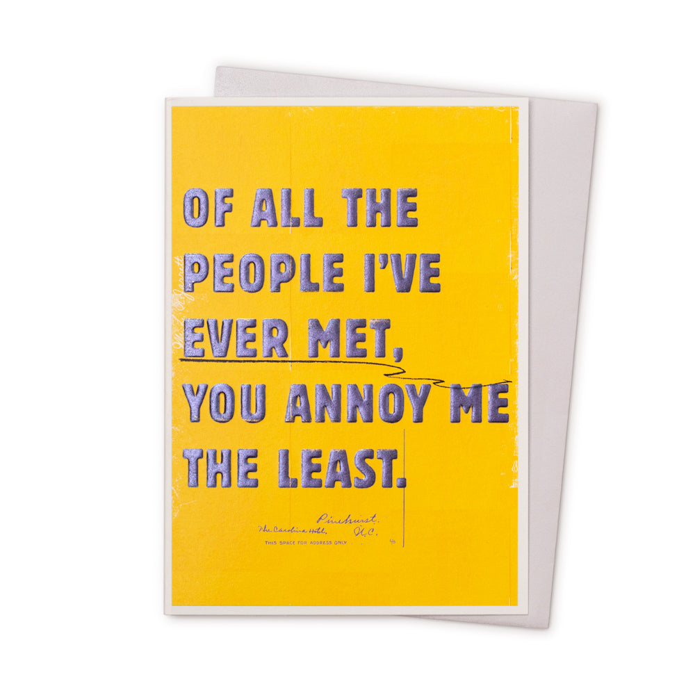 'Ever Met' Card