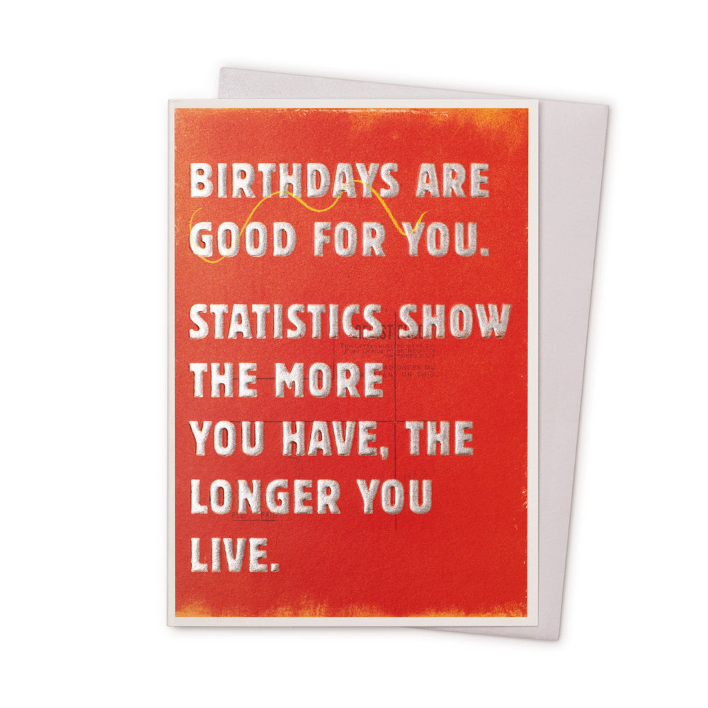 'Birthdays Are Good For You' Card