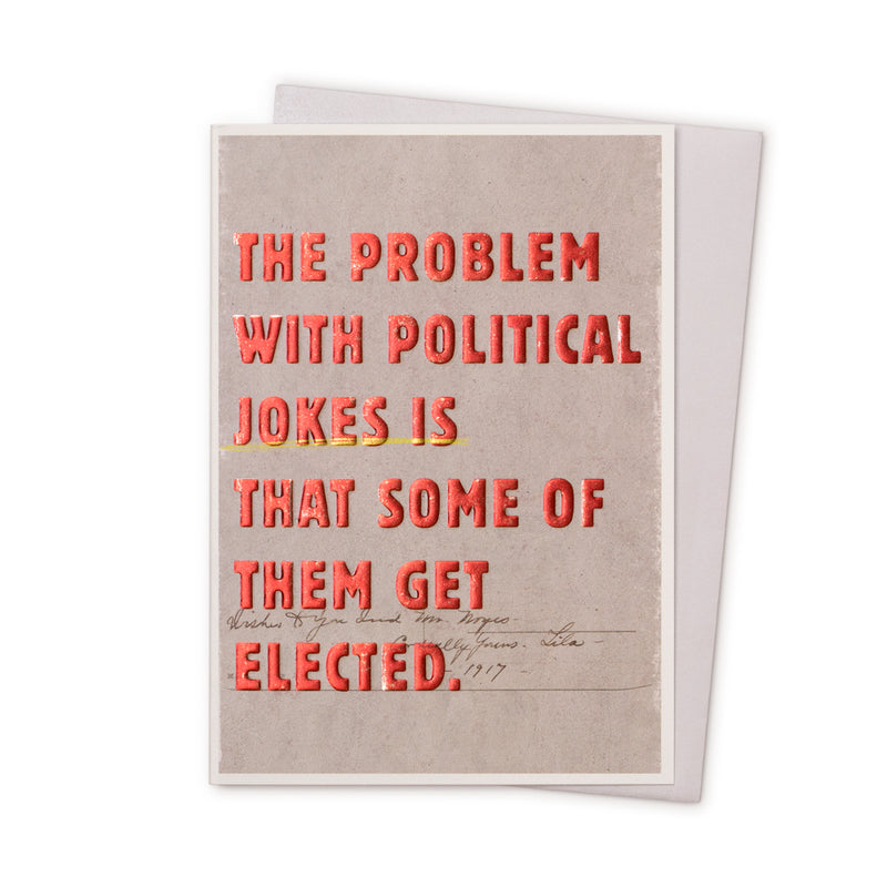 'Political Jokes' Card
