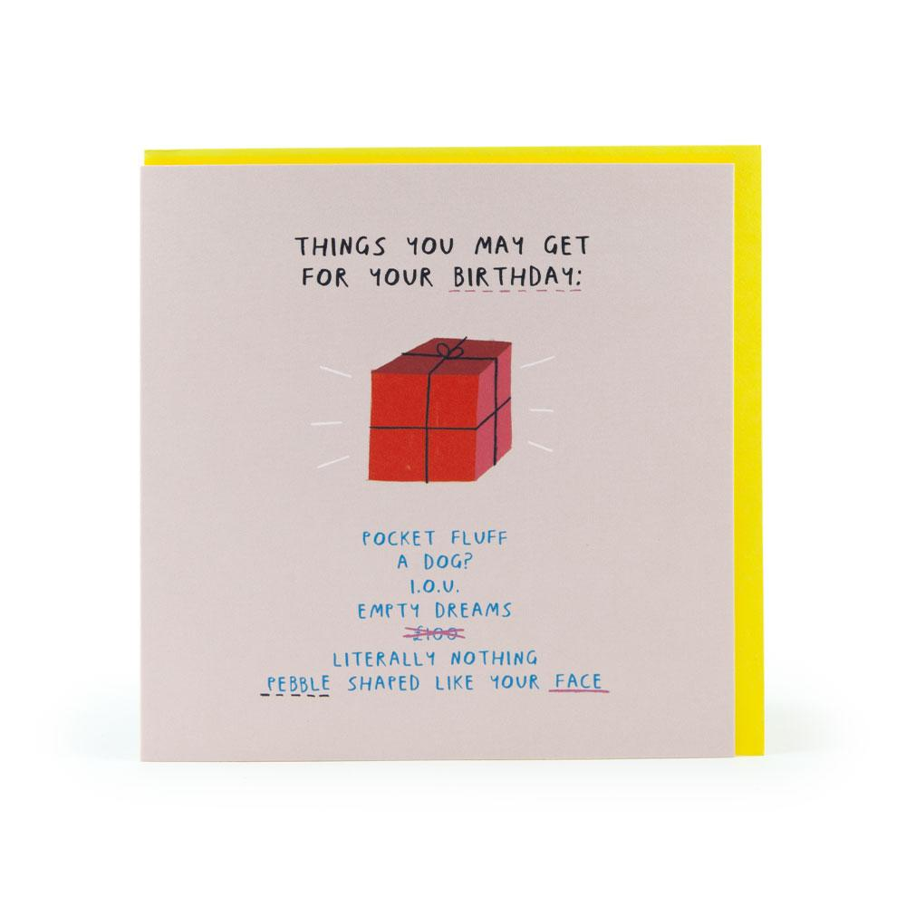 'Things You May Get' Card by USTUDIO
