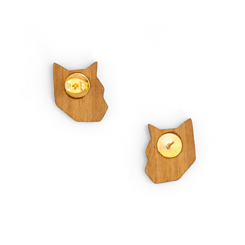 'Tiger Face' Earrings