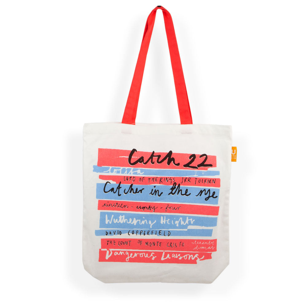 'Book Stack' Tote Bag