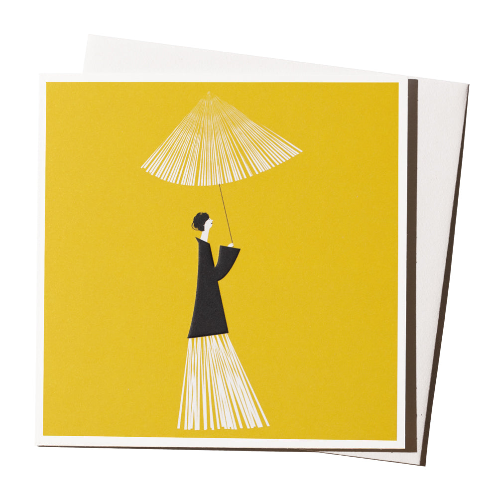 'Yellow Umbrella' Card