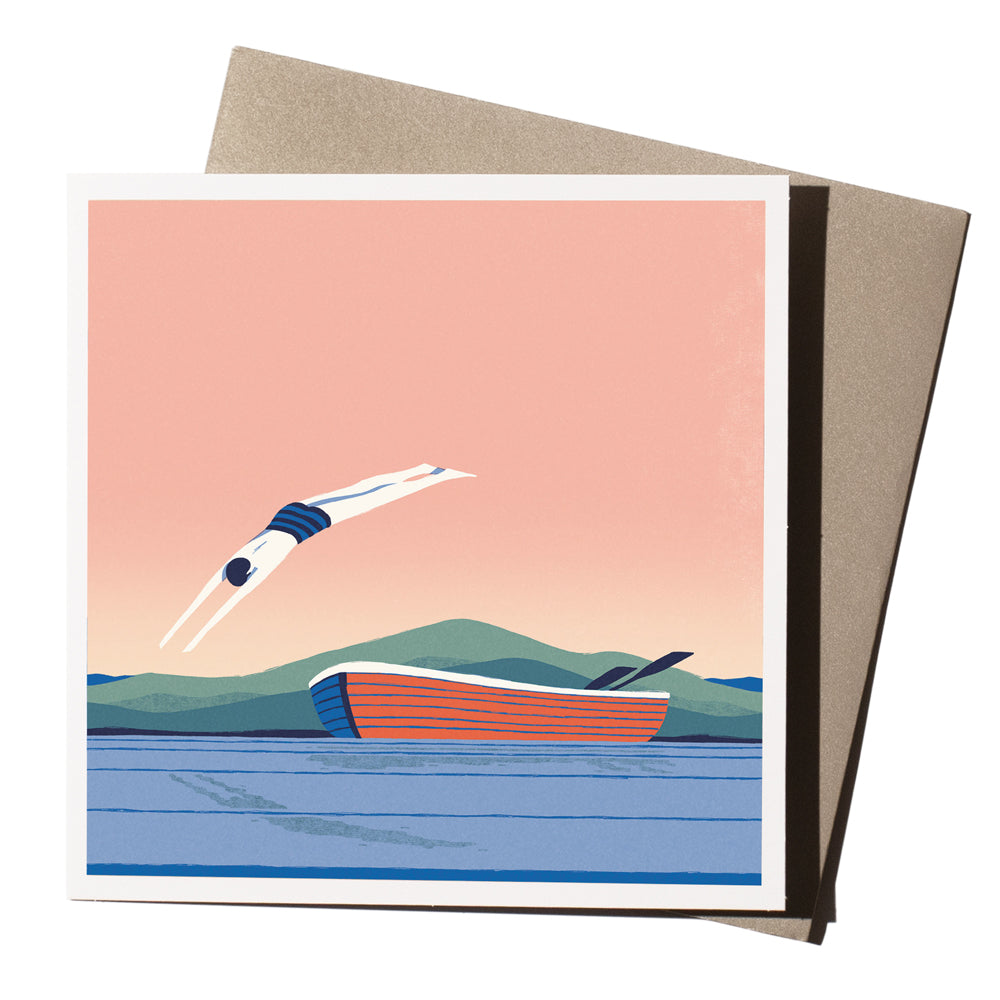 'Sunset Diver' Card