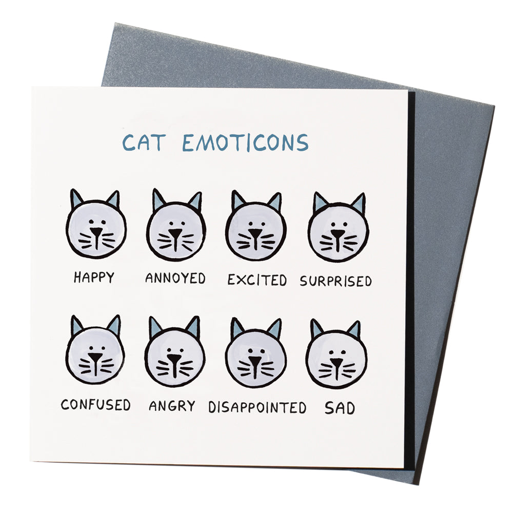 'Cat Emoticons' Card