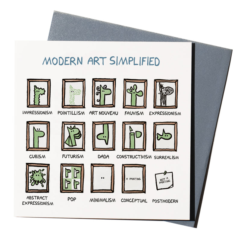 'Modern Art Simplified' Card