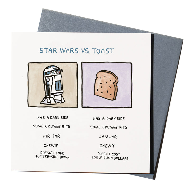 'Star Wars Vs. Toast' Card