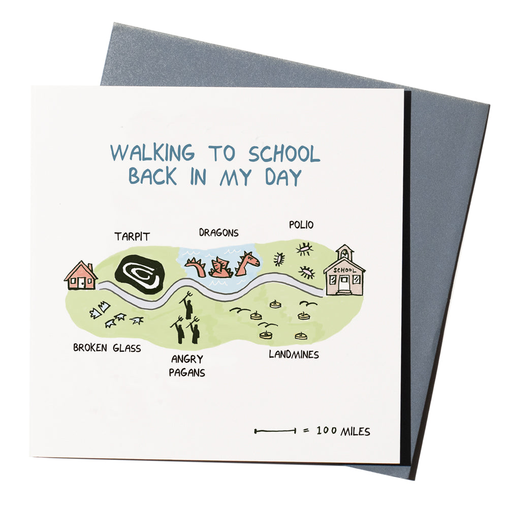 'Walking To School' Card
