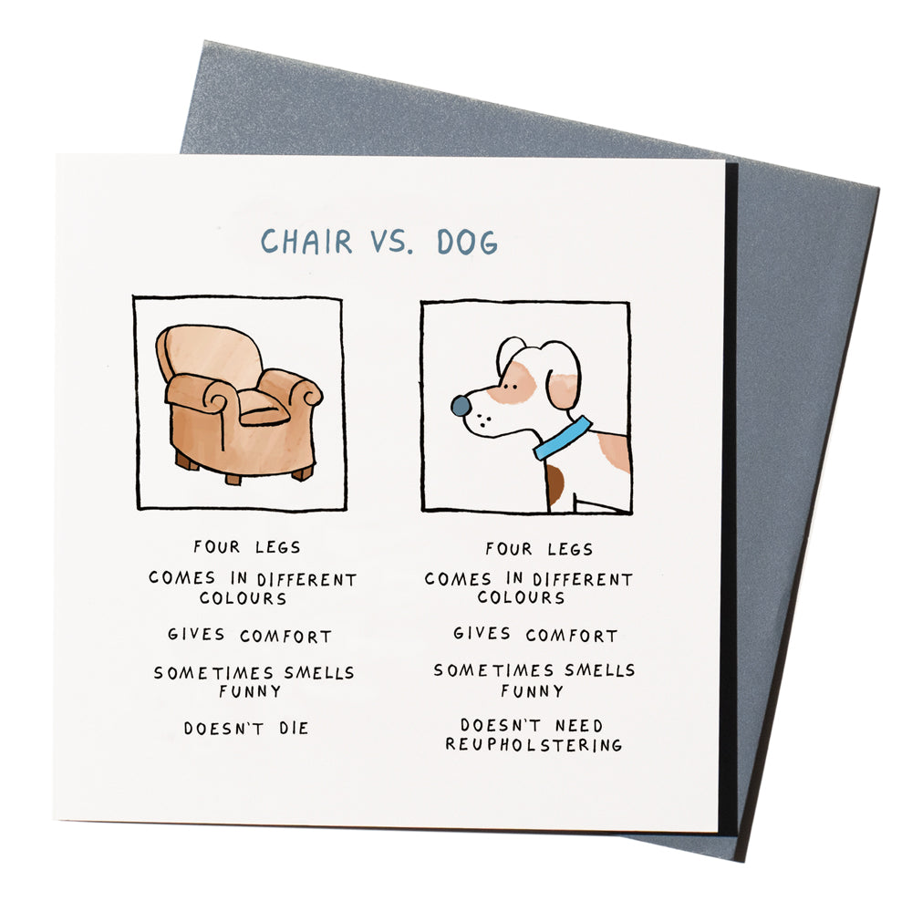 'Chair vs. Dog' Card