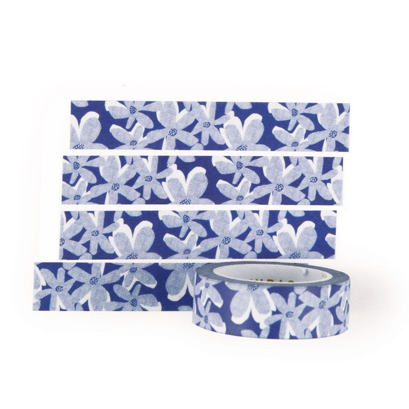 'Blue Bloom' Washi Tape