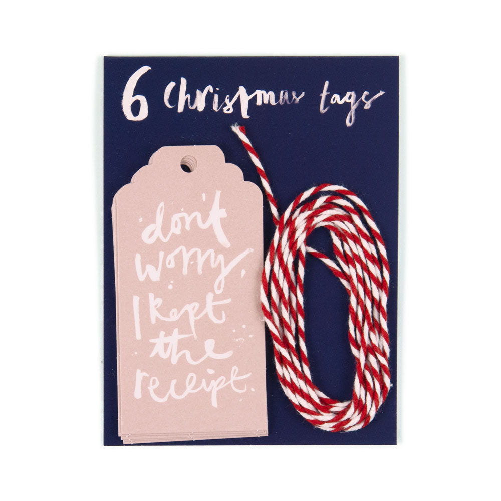 'Don't Worry I Kept the Receipt' Christmas Gift Tags