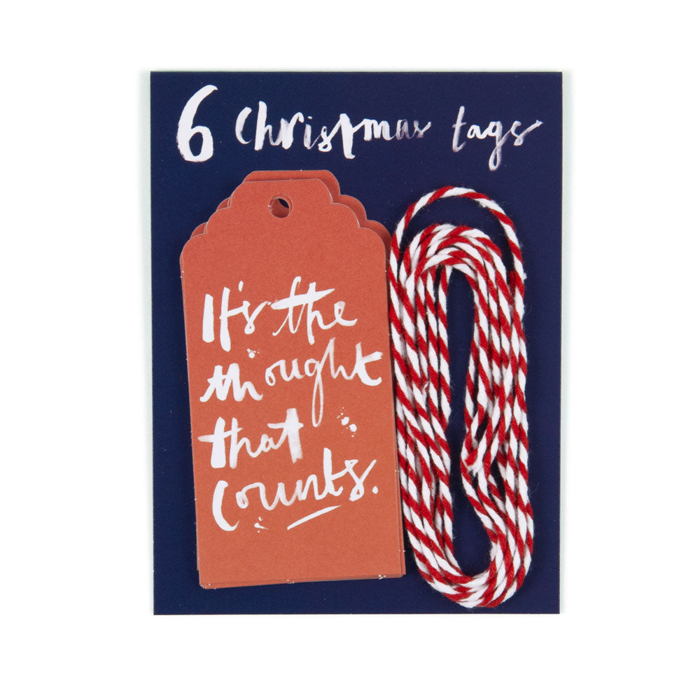 'It's the Thought' Christmas Gift Tags