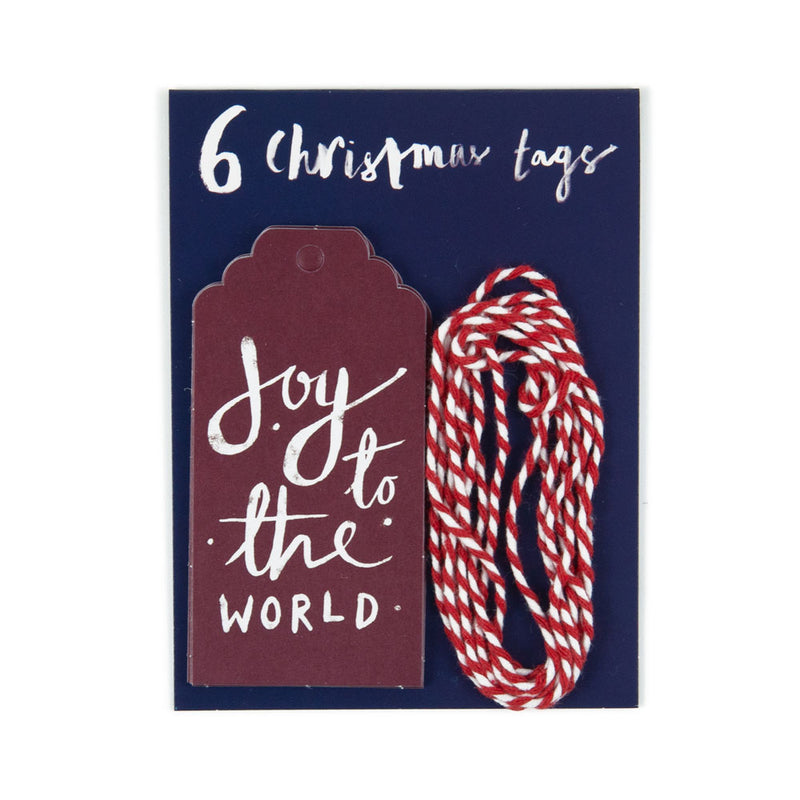 'Joy To the World' Christmas Gift Tags