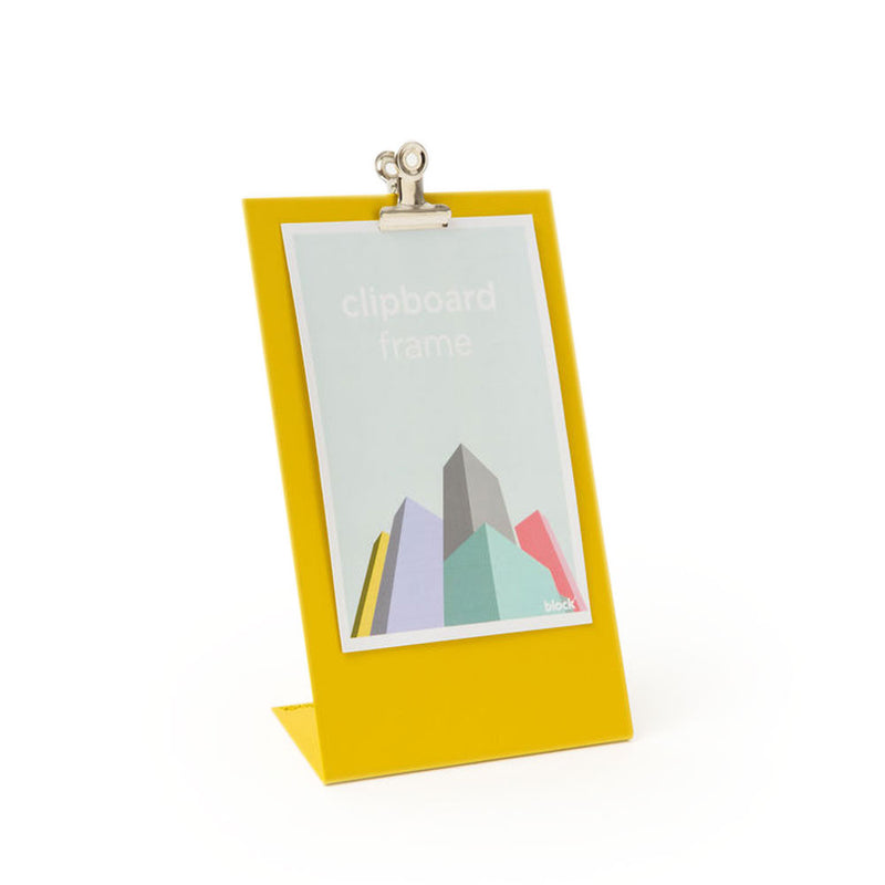 'Clipboard Frame' Yellow Photo Frame