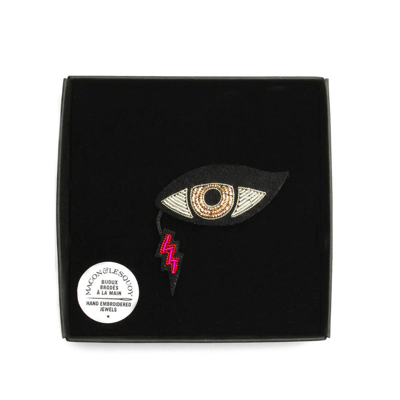 'Russian Eye' Hand Embroidered Lapel Pin