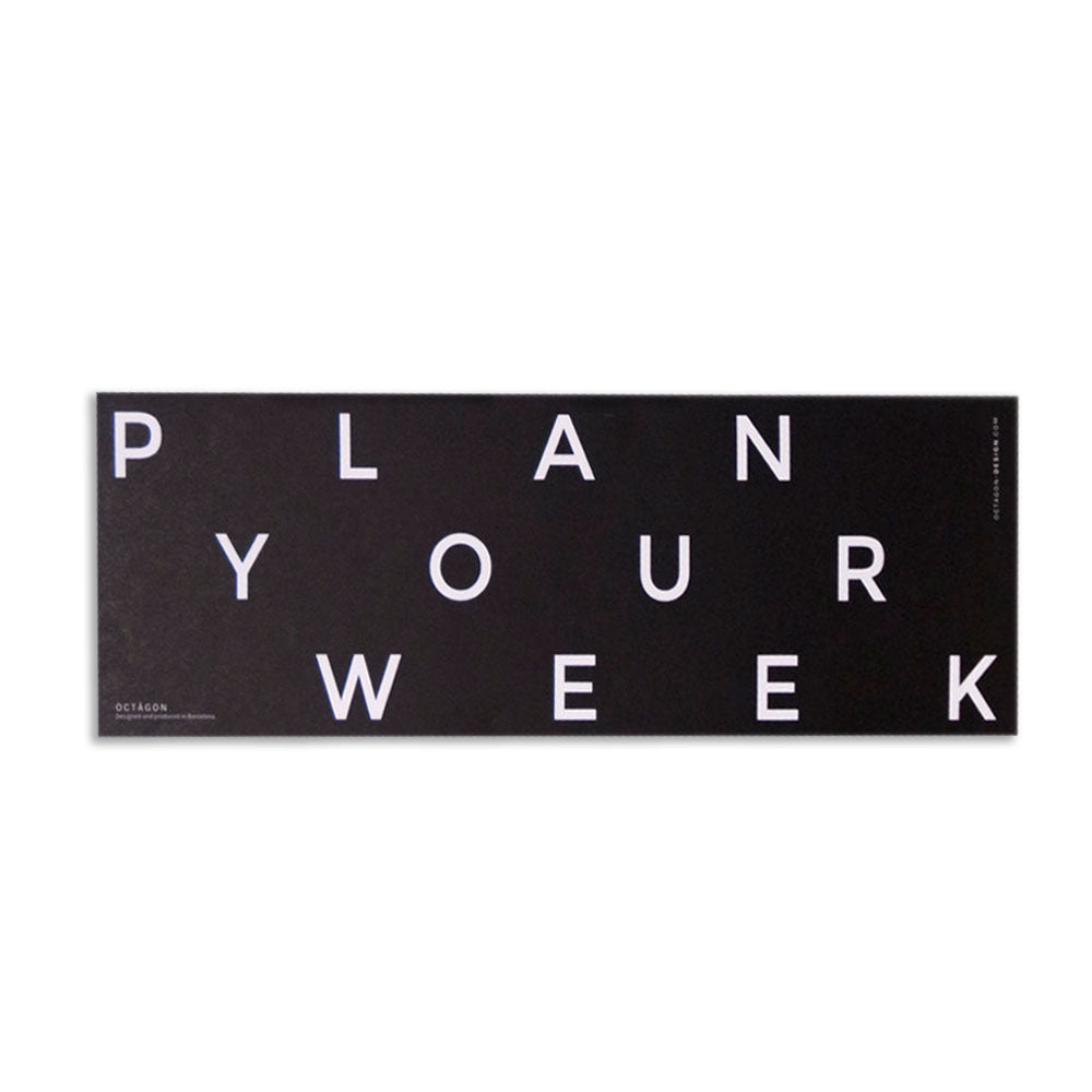 'Plan Your Week' Desktop Planner
