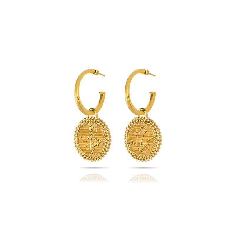 Orecchini Ops Objects Luxury Natural Love OPS-LUX04 donna oro 24K-2b Gioielli