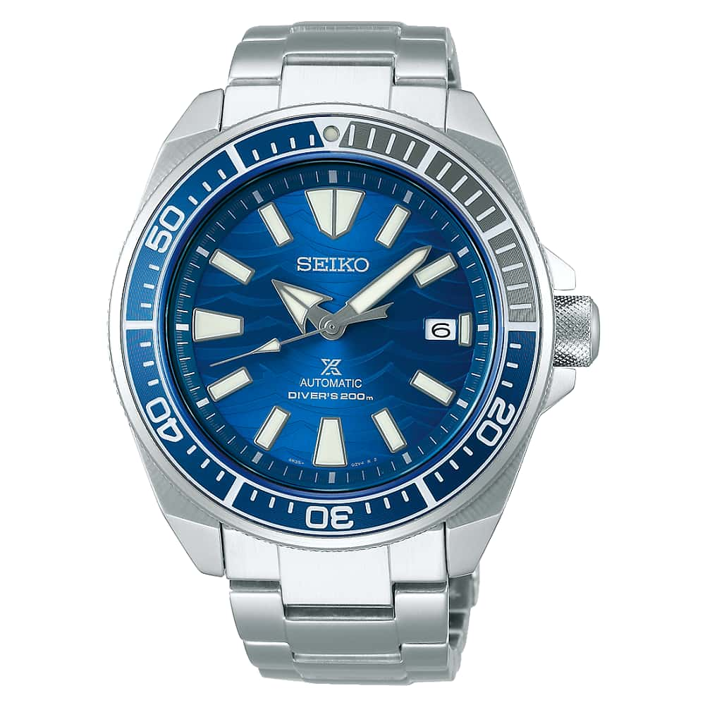 Orologio Seiko PROSPEX SAMURAI Save The Ocean Great White Shark SRPD23K1 Special Edition-2b Gioielli