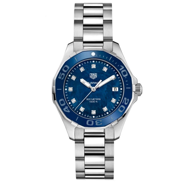 Orologio Tag Heuer Aquaracer blu WAY131L.BA0748 diamanti donna