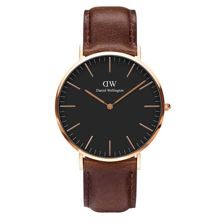 Orologio DW Classic Black Bristol 40mm Rose Gold DW00100125