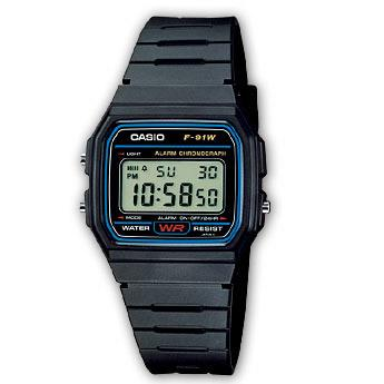Orologio Casio Collection F-91W-1YER unisex 33mm-2b Gioielli