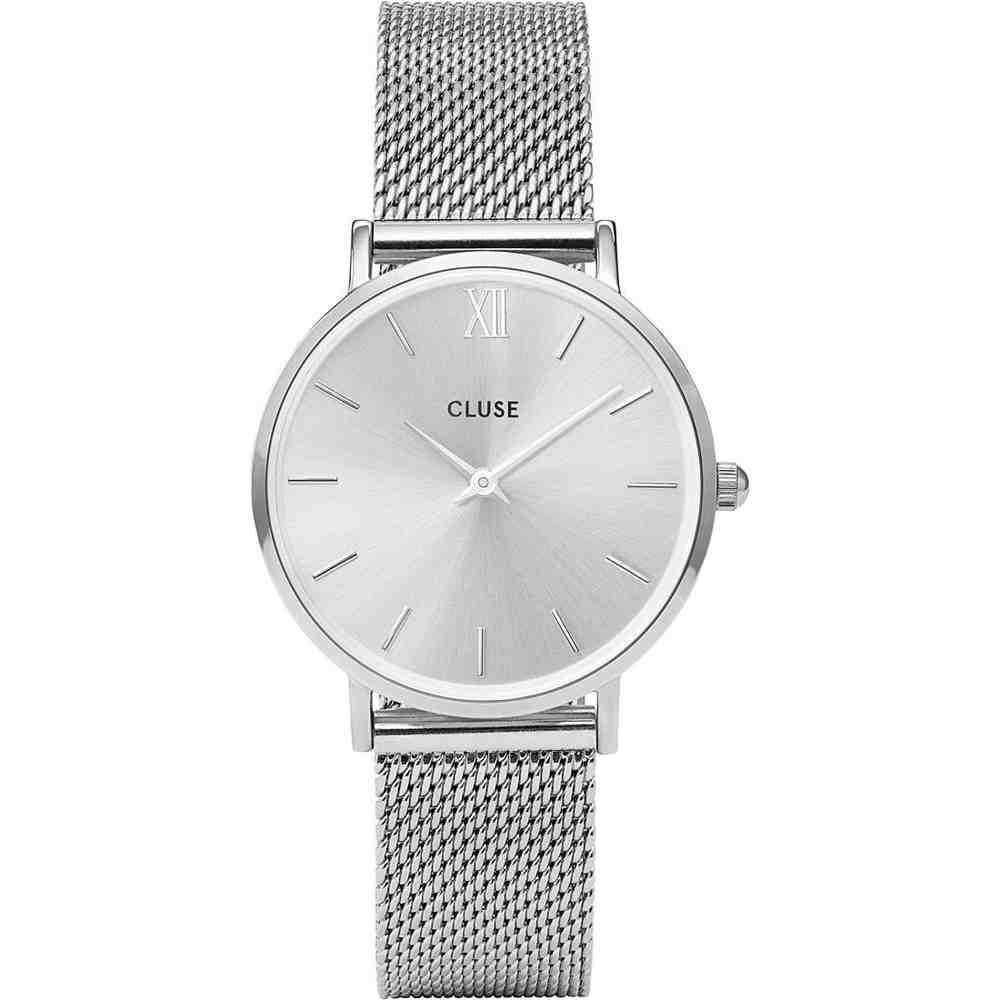 Orologio Cluse Minuit Mesh Full Silver CW0101203011