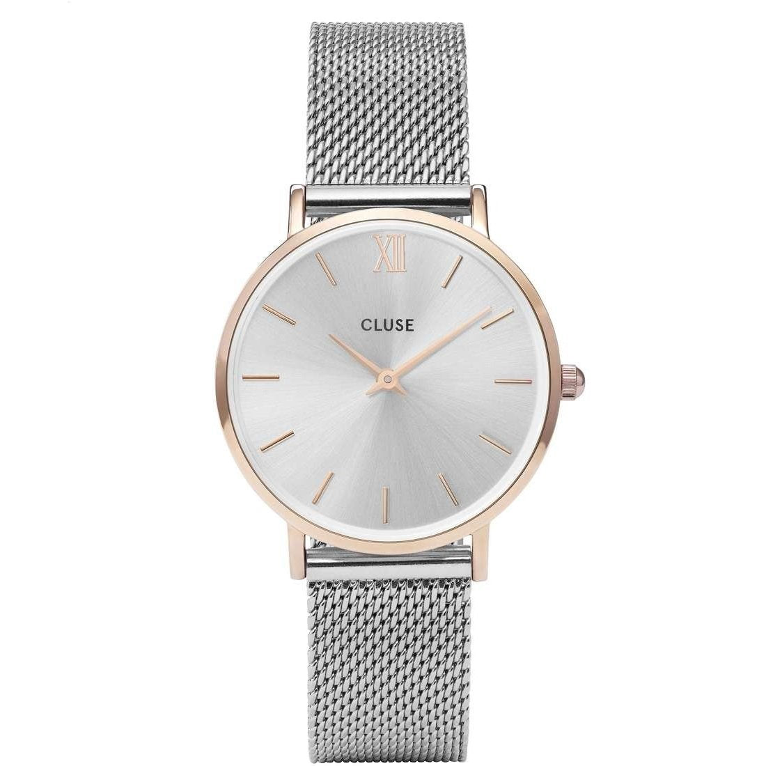 Orologio Cluse Minuit Mesh Rose Gold/Silver CW0101203004
