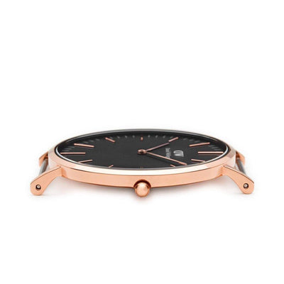 Orologio DW Classic Black Cornwall 40mm nero rose gold DW00100148-2b Gioielli