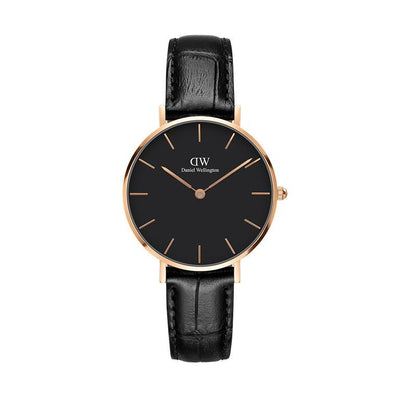 Orologio DW Classic Petite Reading 32mm nero rose gold DW00100167-2b Gioielli