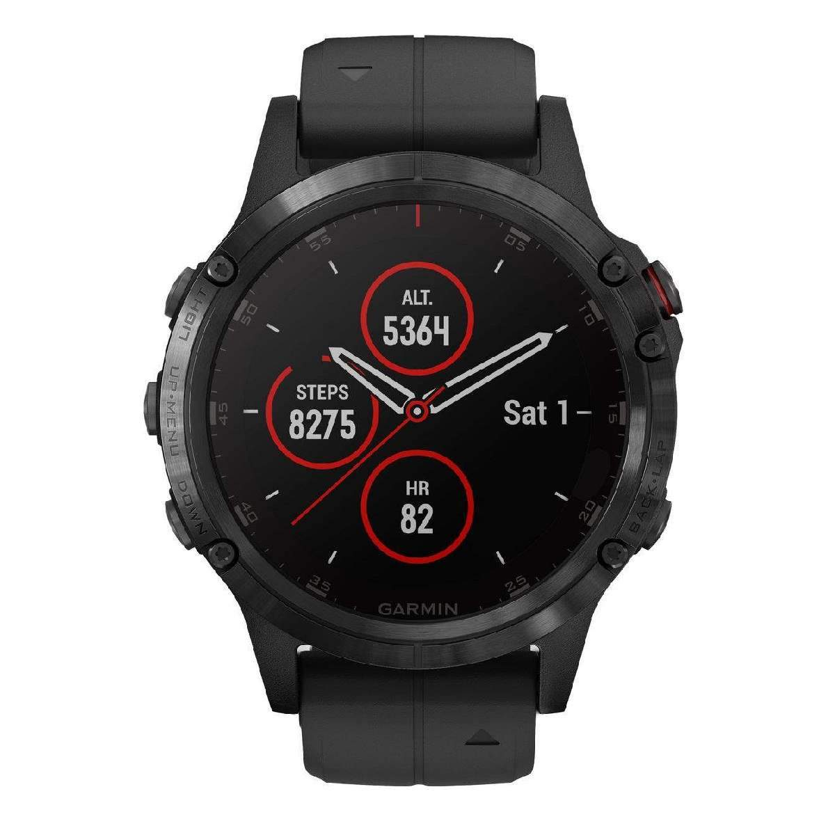Orologio Garmin Fenix 5 Plus Sapphire Black smartwatch uomo 47mm 010-01988-01