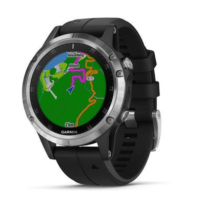 Orologio Garmin Fenix 5 Plus Silver Black band 47mm 010-01988-11-2b Gioielli