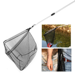 RUNACC Fishing Landing Net with Telescopic Pole Handle, 37.4'' Length