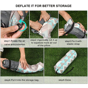 RUNACC Self Inflating Camping Pillow Travel Air Pillow
