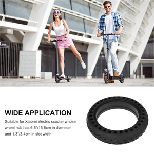 RUNACC Electric Scooter Solid Tyre Flat Free Scooter Rubber Tire Durable Replacement Tyre Anti-slip Tire for Xiaomi Electric Scooter with 8.5'' Tyre Size, Black