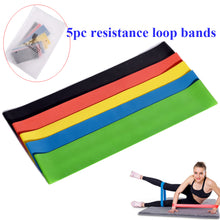 Load image into Gallery viewer, RUNACC-Resistance-Loop-Bands-Latex-Exercise-Band-Stretch-Resistant-Pull-Rings-for-Crossfit-Yoga-and-Physical-Therapy-Set-of-5-15