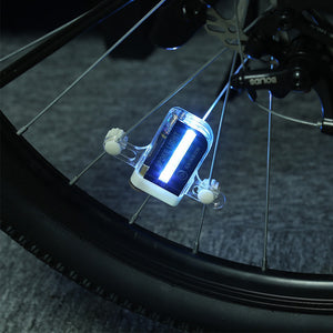 RUNACC Waterproof Bike Wheel Lights LED Bicycle Spoke Light Colorful Bike Tire Lights with Switch and Different Patterns, White and Black