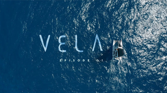 "John Florence sails off to Palmyra on his boat ""Vela"" in a new video oddyssey."