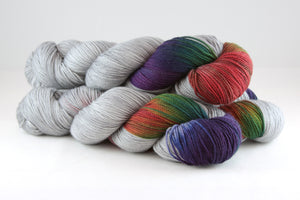 Calvinia Sock - Dark Rainbow