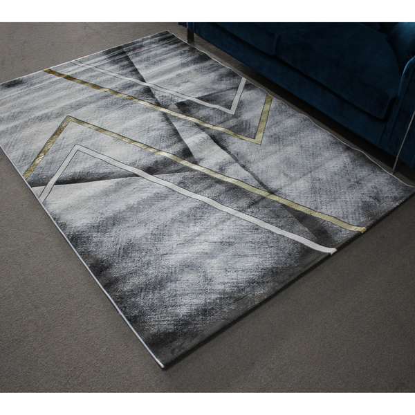 A RUG | ALMIRA HE422 L.GREY GOLD | Quality Rugs and Furniture
