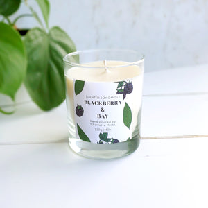 Blackberry and Bay Scented Soy Candle